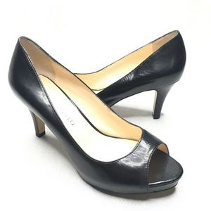 Franco Sarto Peep Toe Classic Black Pumps Heels